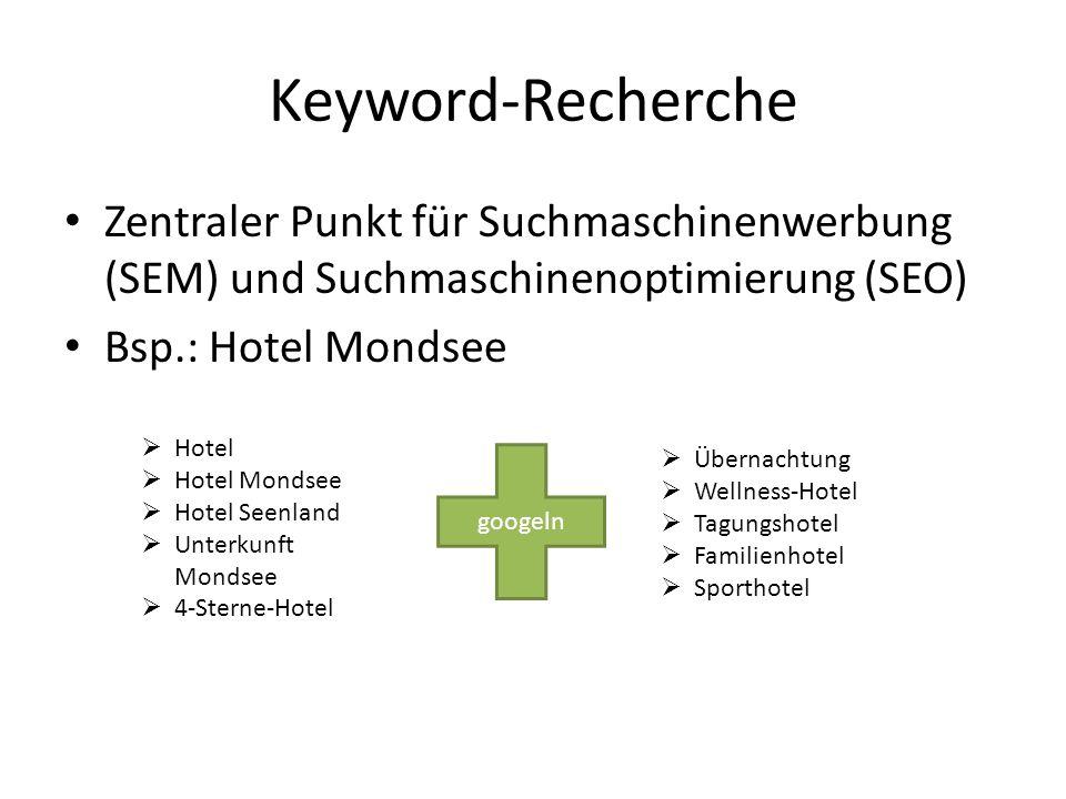 Keyword-Recherche Zentraler Punkt für Suchmaschinenwerbung (SEM) und Suchmaschinenoptimierung (SEO)