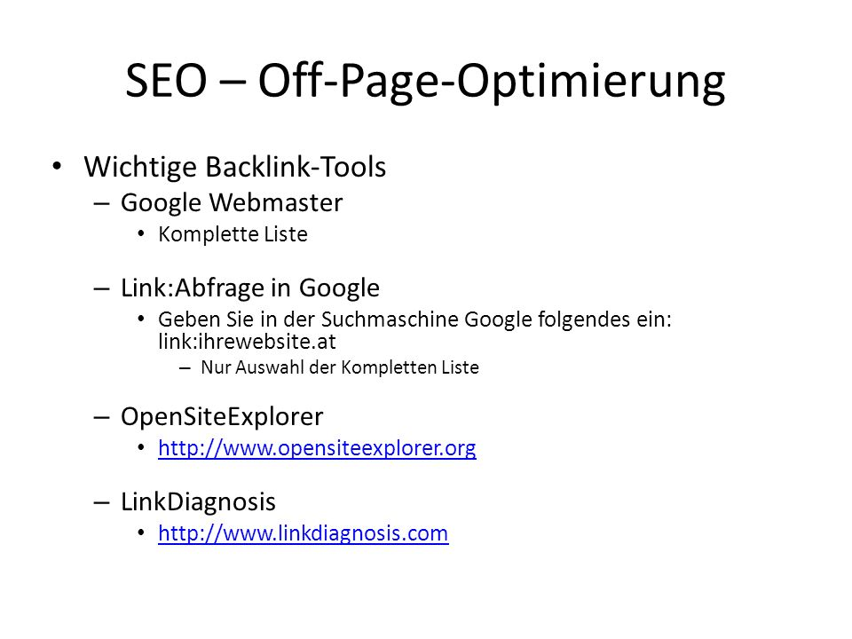 SEO – Off-Page-Optimierung