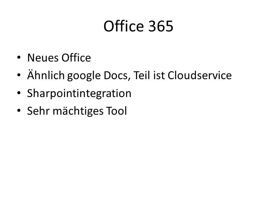 Office 365 Neues Office Ähnlich google Docs, Teil ist Cloudservice