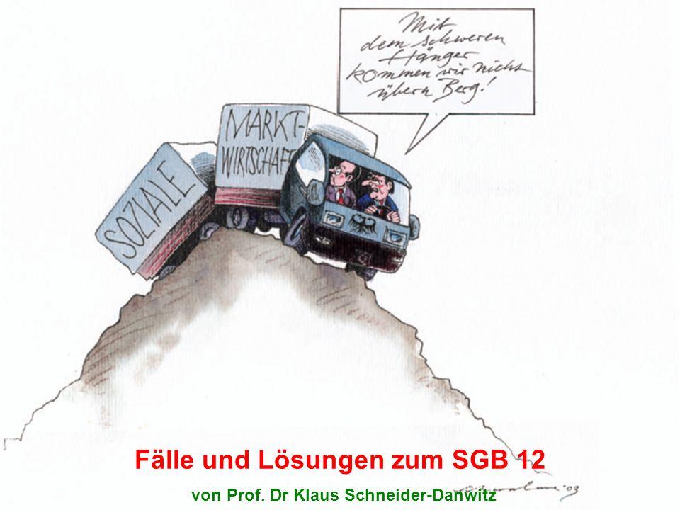 Fälle und Lösungen zum SGB 12 von Prof. Dr Klaus Schneider-Danwitz