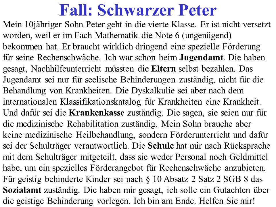 Fall: Schwarzer Peter