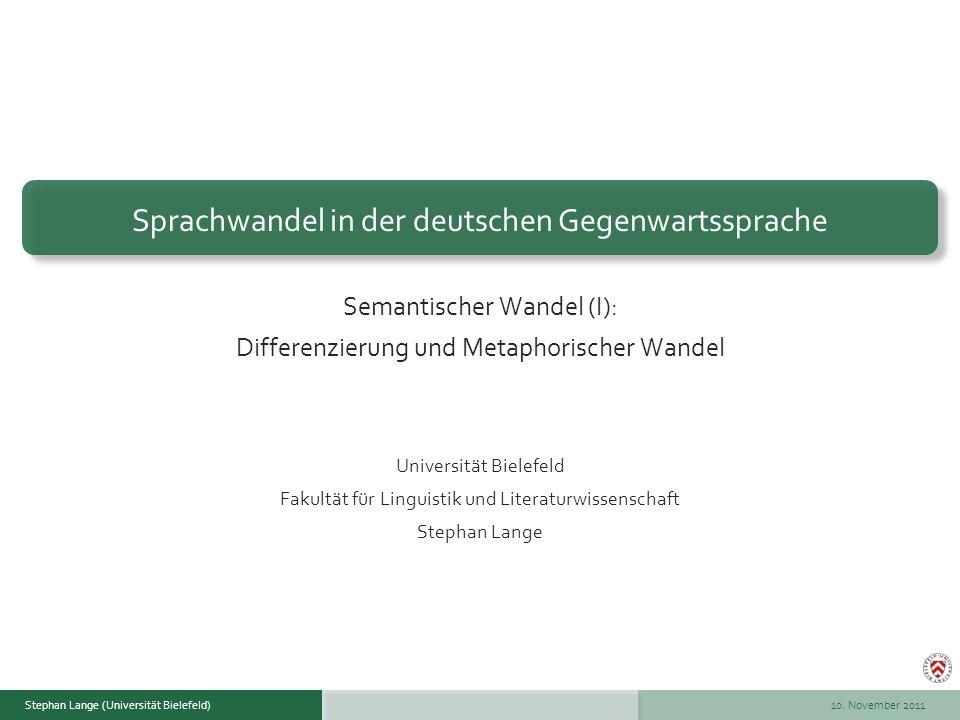 Sprachwandel in der deutschen Gegenwartssprache