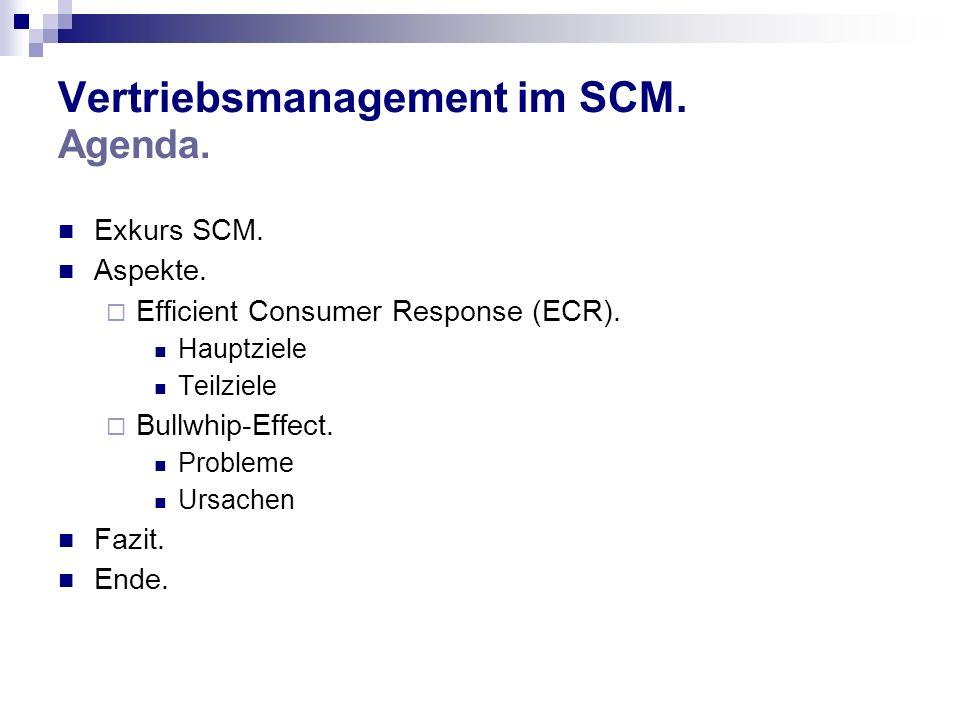 Vertriebsmanagement im SCM. Agenda.