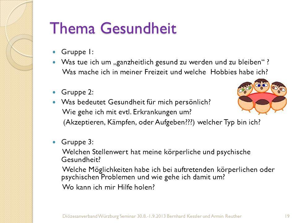 Thema Gesundheit Gruppe 1: