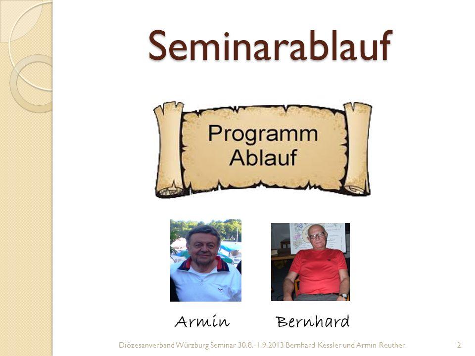 Seminarablauf Armin Bernhard
