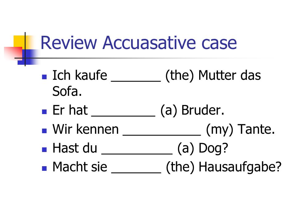 Review Accuasative case