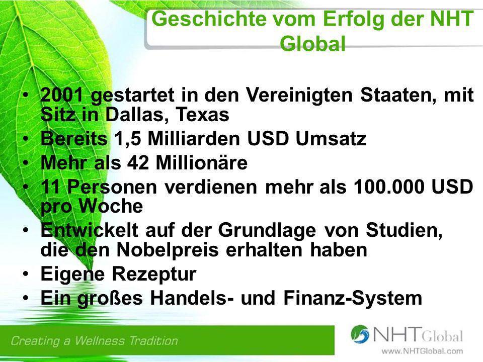 Geschichte vom Erfolg der NHT Global