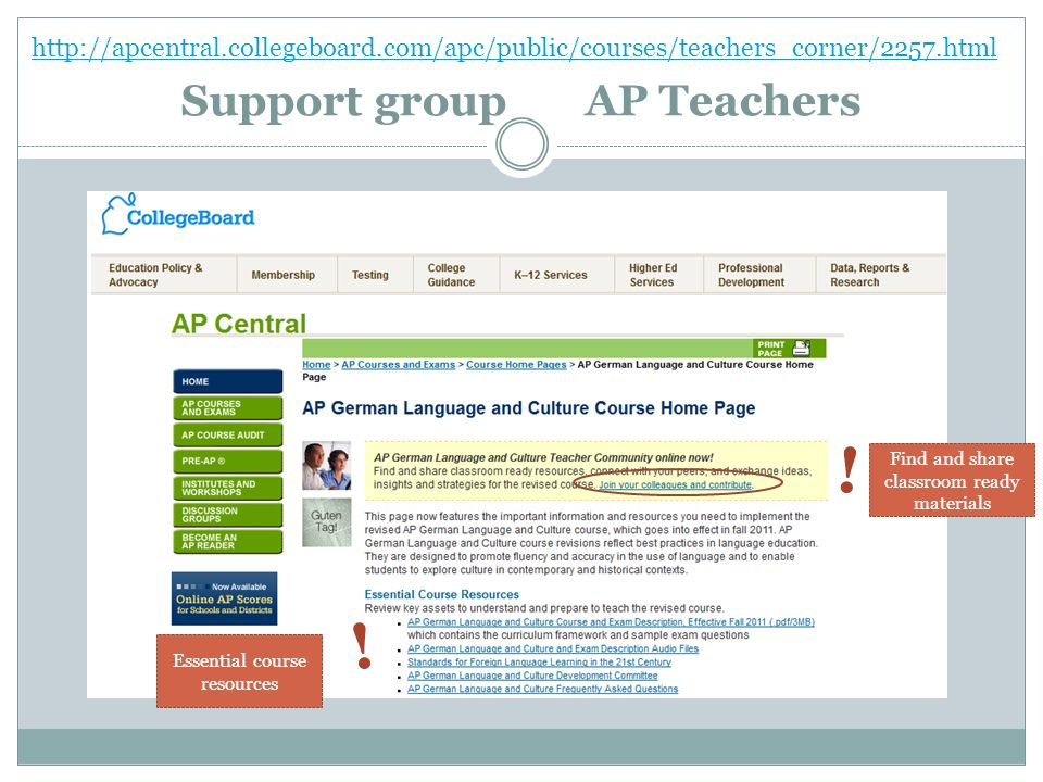 Support group AP Teachers