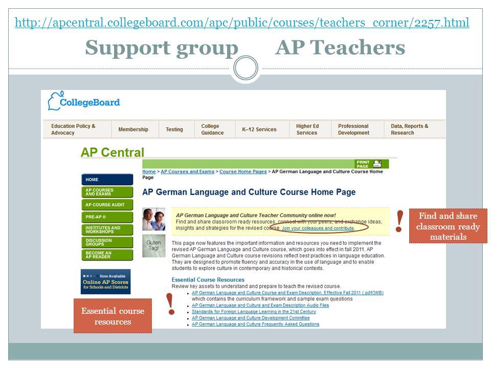 Support group AP Teachers