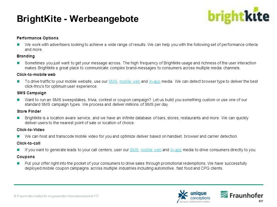 BrightKite - Werbeangebote