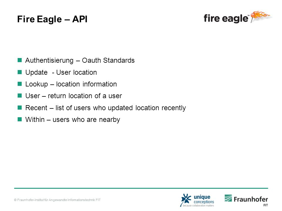 Fire Eagle – API Authentisierung – Oauth Standards