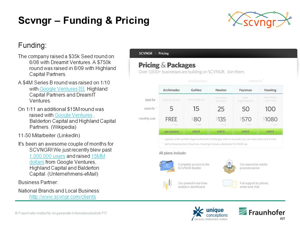 Scvngr – Funding & Pricing