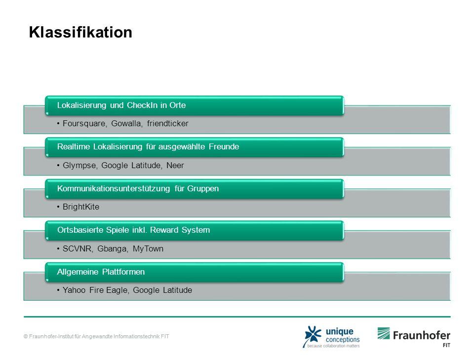 Klassifikation Lokalisierung und CheckIn in Orte