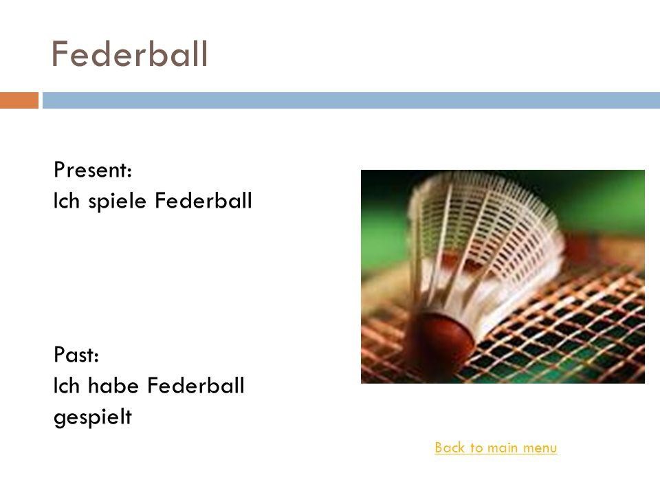 Federball Present: Ich spiele Federball Past: