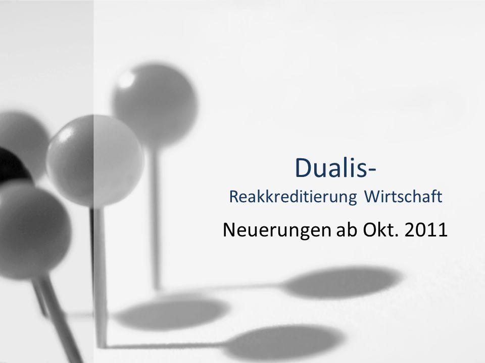 Dualis- Reakkreditierung Wirtschaft