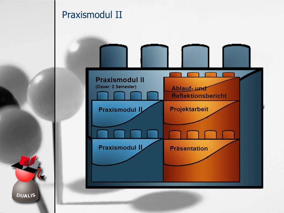 Praxismodul II Praxismodul II Ablauf- und Reflektionsbericht