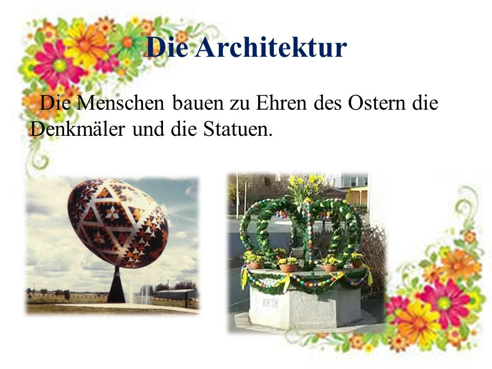 Die Architektur Die Menschen bauen zu Ehren des Ostern die Denkmäler und die Statuen.