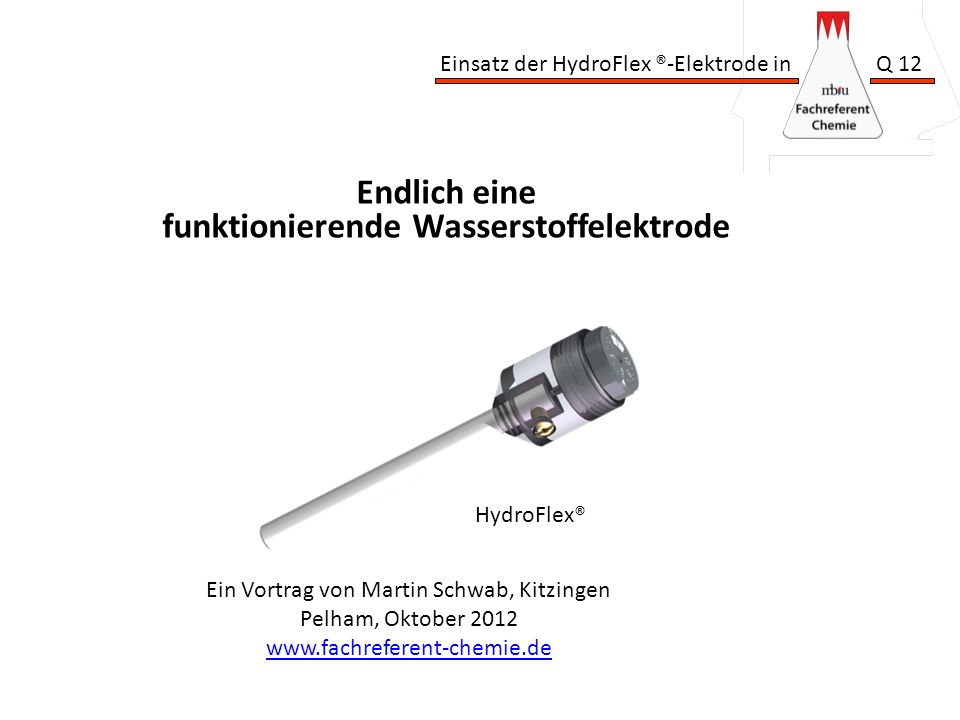 funktionierende Wasserstoffelektrode