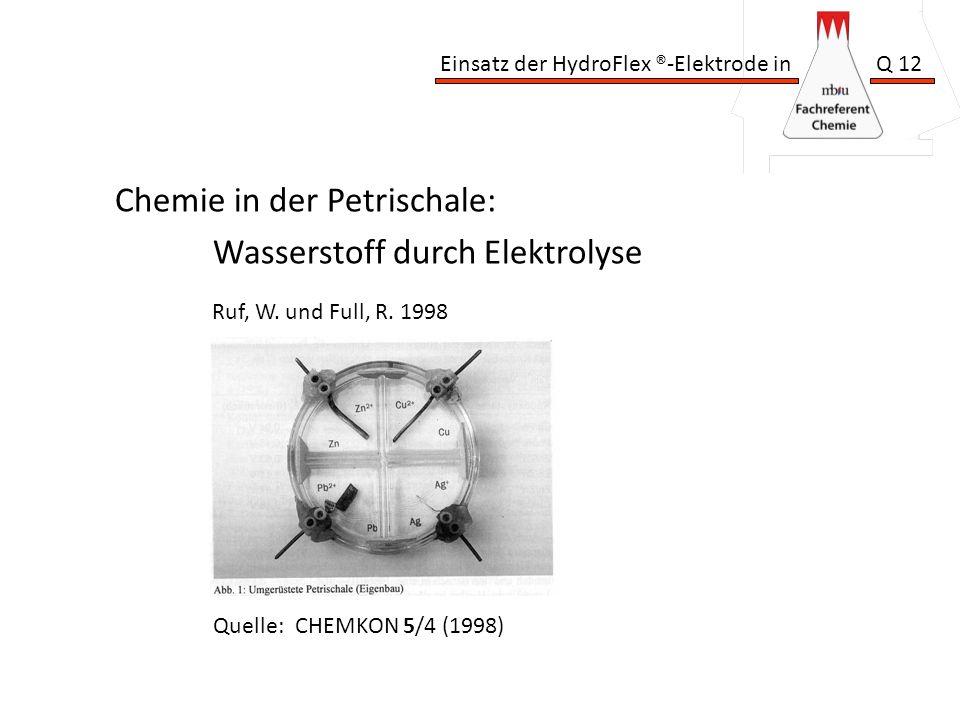 Chemie in der Petrischale: Wasserstoff durch Elektrolyse