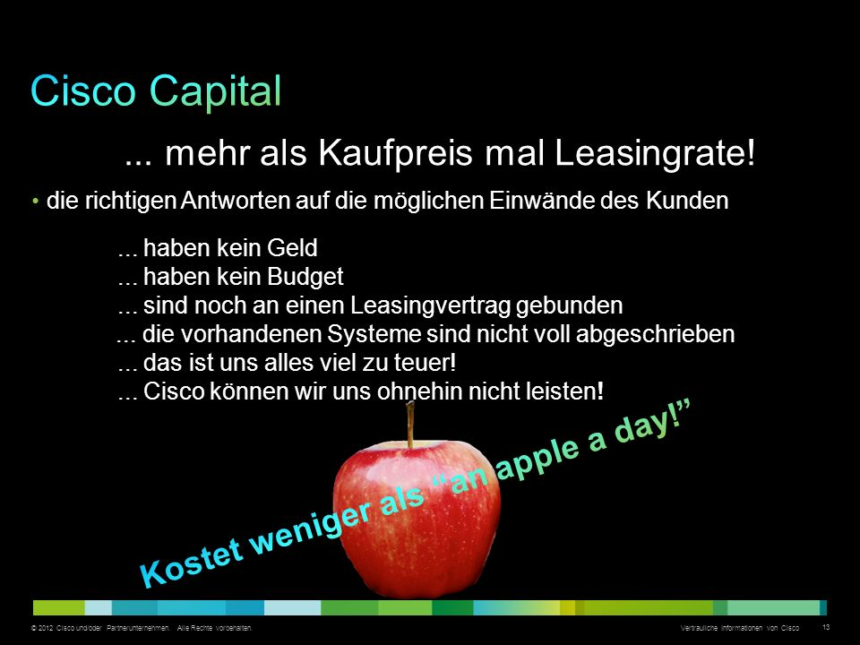 Cisco Capital ... mehr als Kaufpreis mal Leasingrate!