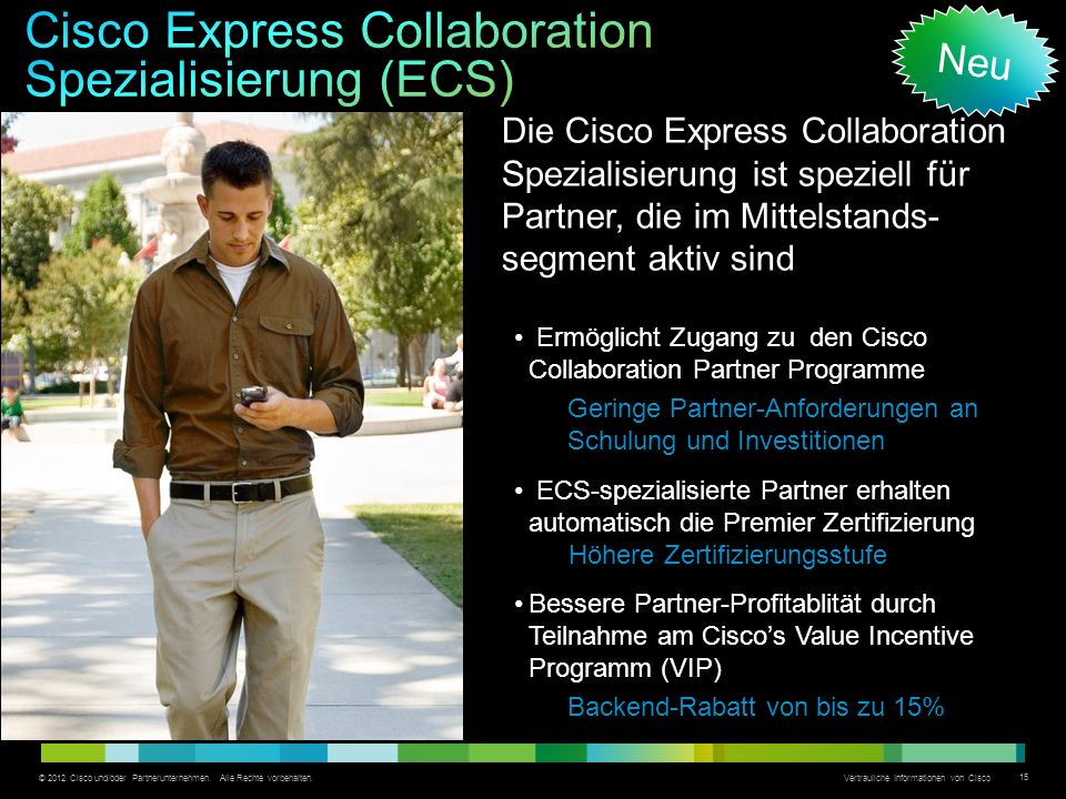 Cisco Express Collaboration Spezialisierung (ECS)