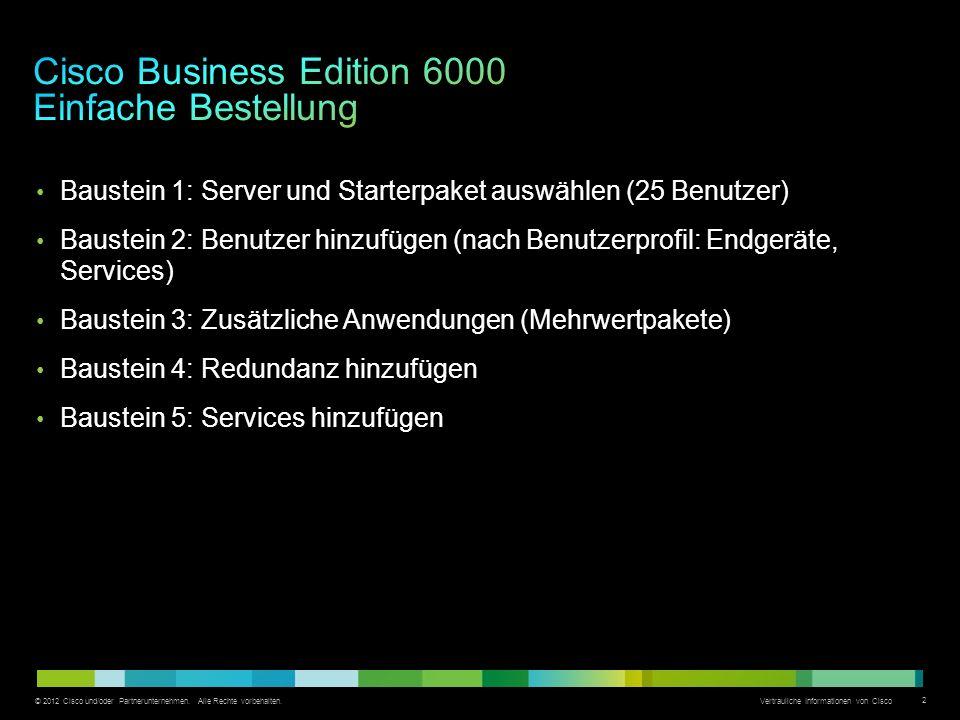 Cisco Business Edition 6000 Einfache Bestellung