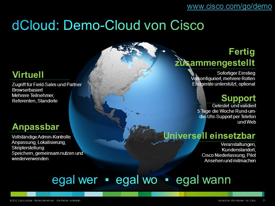 dCloud: Demo-Cloud von Cisco