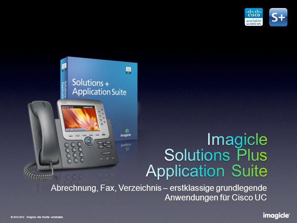 Imagicle Solutions Plus Application Suite