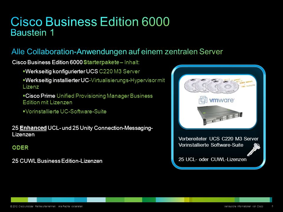 Cisco Business Edition 6000 Baustein 1