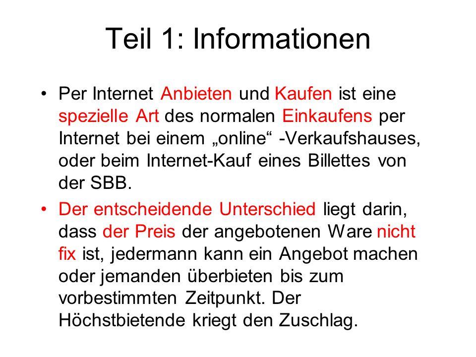 Teil 1: Informationen
