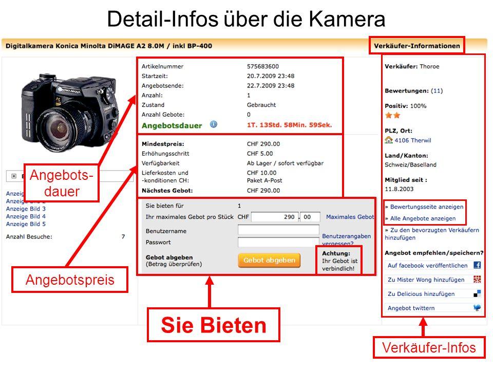 Detail-Infos über die Kamera
