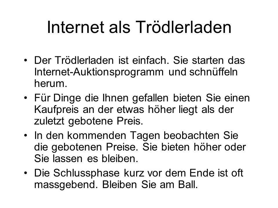 Internet als Trödlerladen