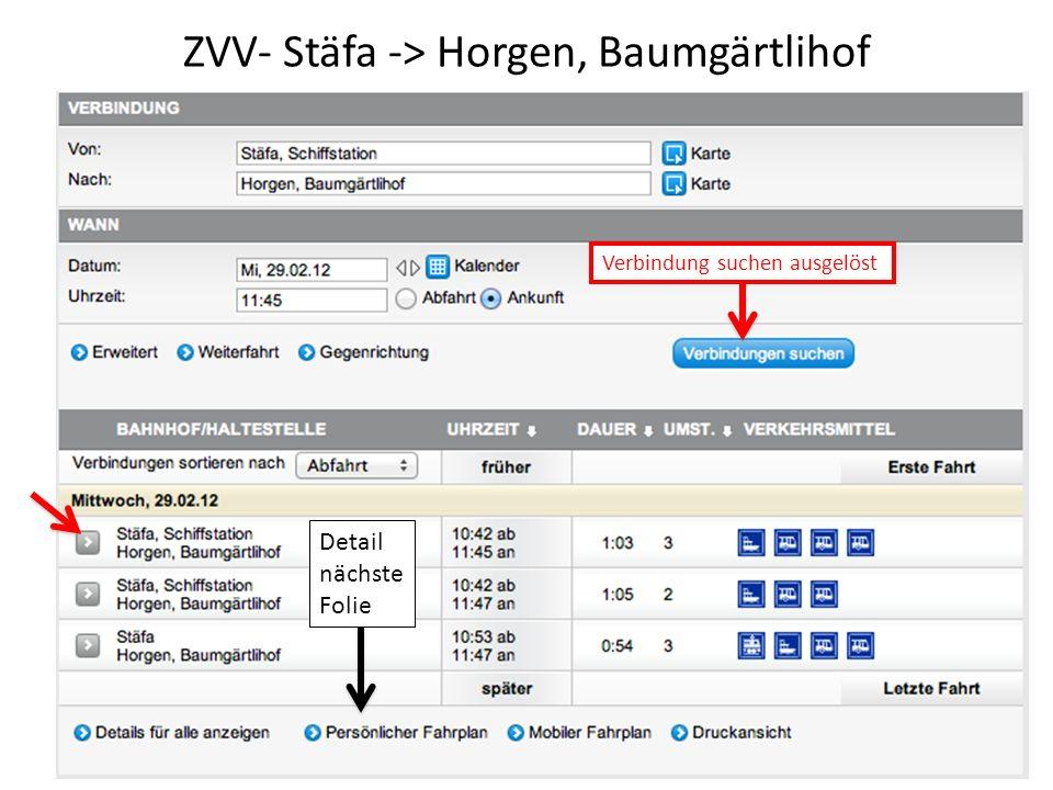 ZVV- Stäfa -> Horgen, Baumgärtlihof