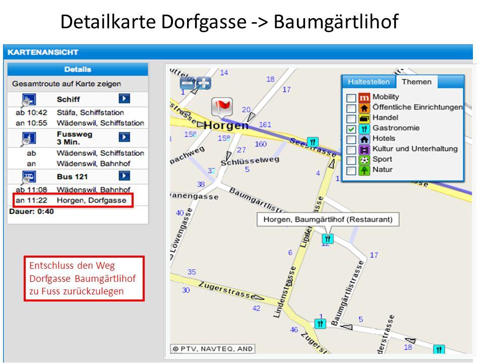 Detailkarte Dorfgasse -> Baumgärtlihof
