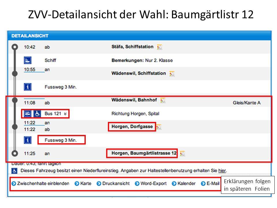 ZVV-Detailansicht der Wahl: Baumgärtlistr 12