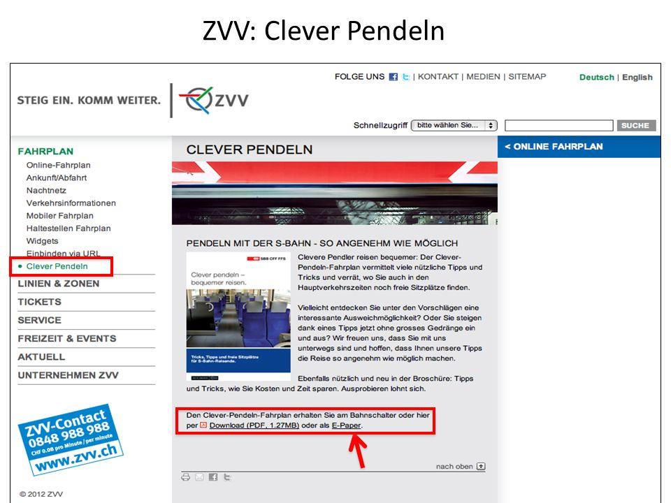 ZVV: Clever Pendeln