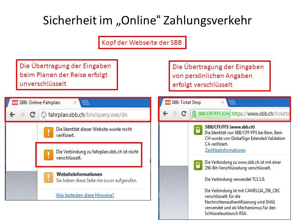 """Sicherheit im """"Online Zahlungsverkehr"""