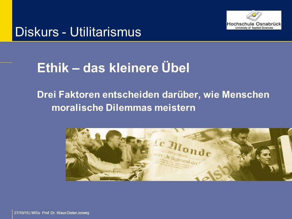 Diskurs - Utilitarismus