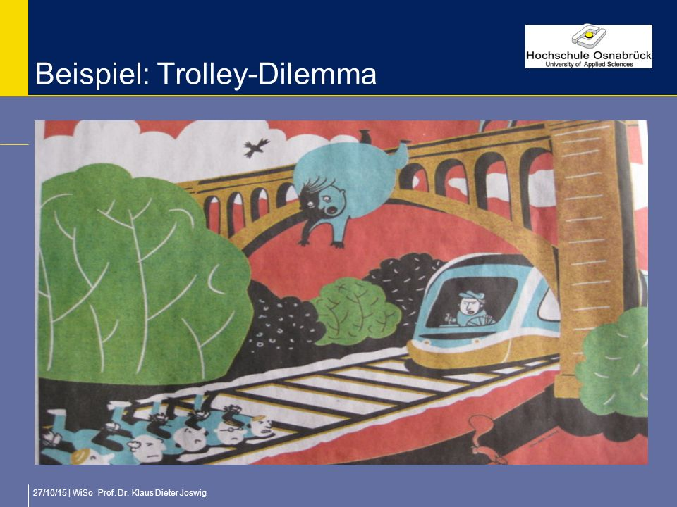 Beispiel: Trolley-Dilemma