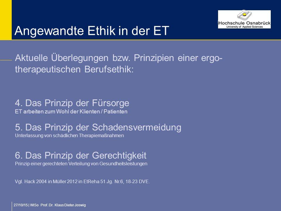 Angewandte Ethik in der ET