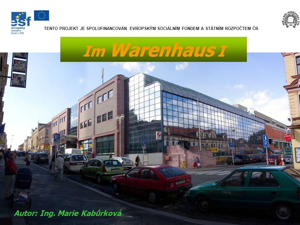 Im Warenhaus I Autor: Ing. Marie Kabůrková