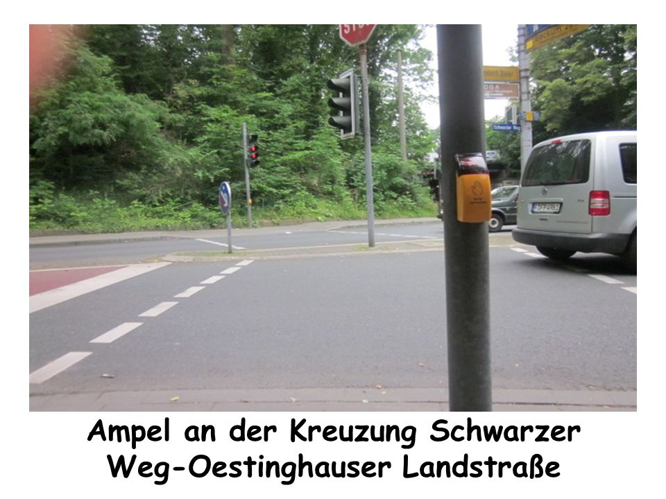 Ampel an der Kreuzung Schwarzer Weg-Oestinghauser Landstraße