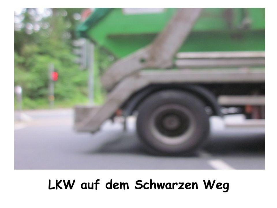LKW auf dem Schwarzen Weg