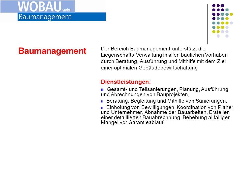 Baumanagement Dienstleistungen:
