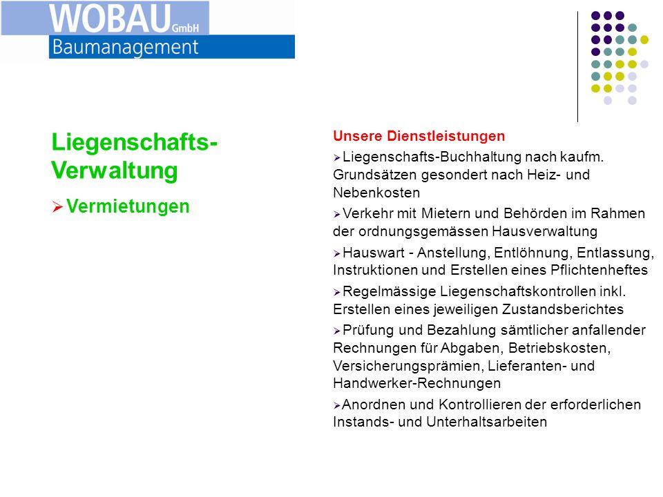 Liegenschafts-Verwaltung Vermietungen