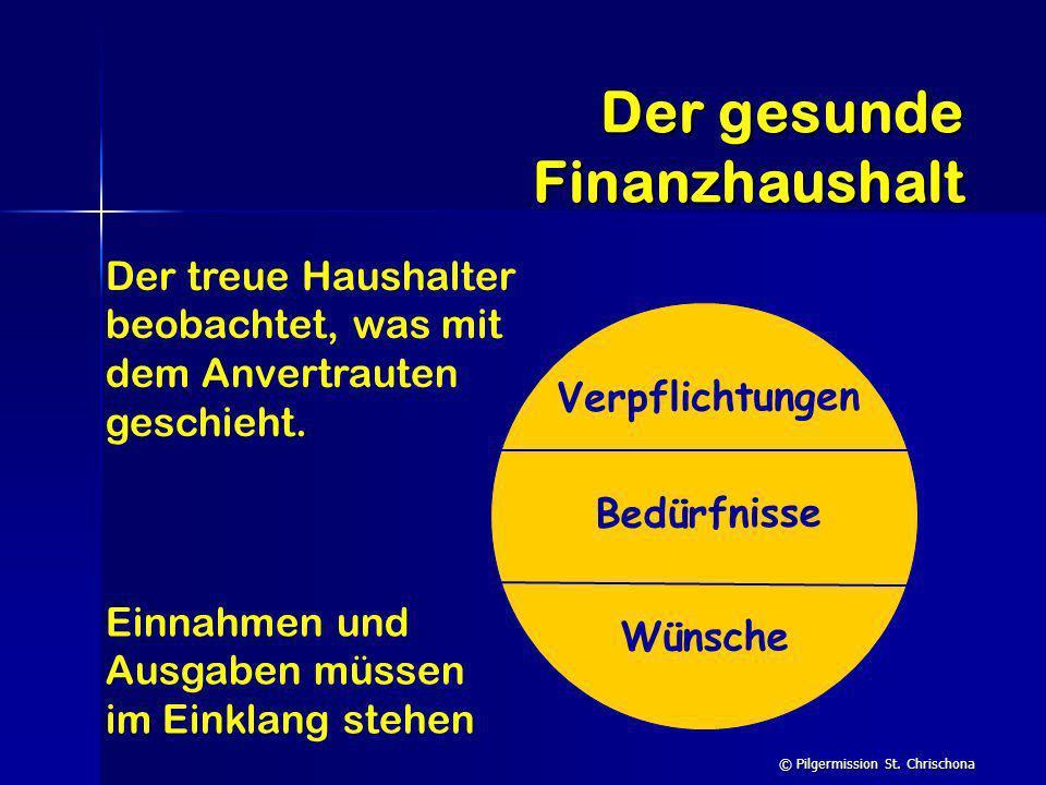 Der gesunde Finanzhaushalt