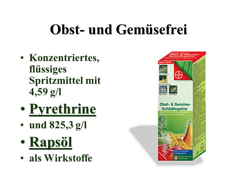 Obst- und Gemüsefrei Pyrethrine Rapsöl