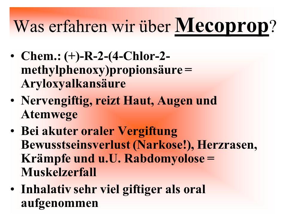 Was erfahren wir über Mecoprop