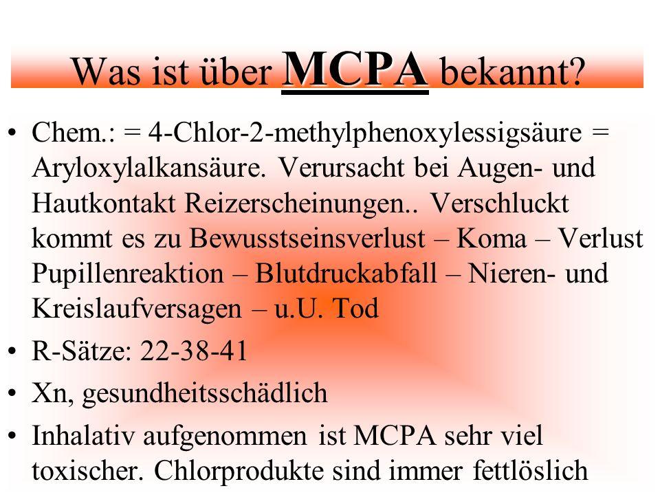 Was ist über MCPA bekannt
