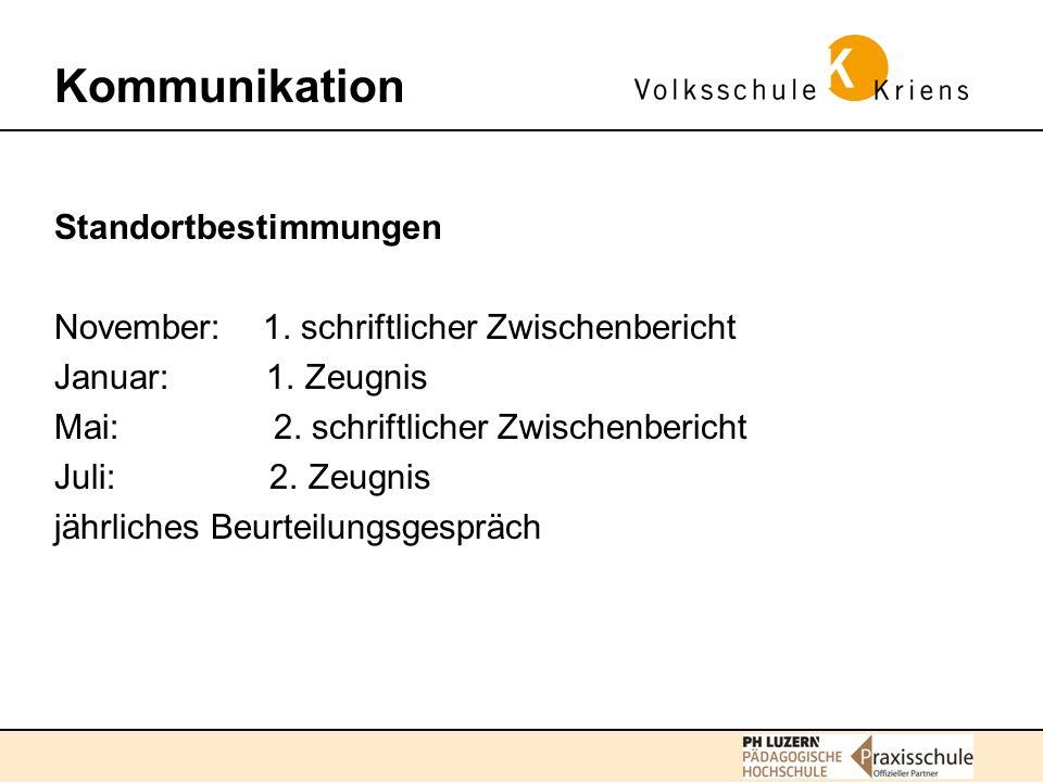 Kommunikation Standortbestimmungen
